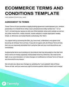 Free terms conditions templates downloadable samples for Terms and conditions template ecommerce