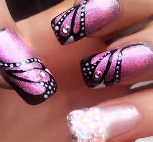 Holographic butterfly easy nail art
