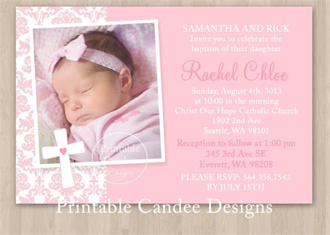 baptism invitation template editable Baby dedication