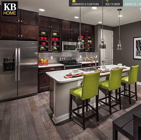 kb home white countertop  darker cabinets kb homes