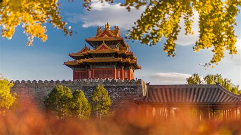 turret  palace museum  fall forbidden city beijing