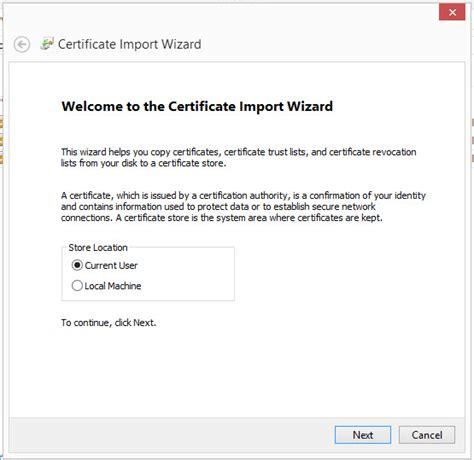 le bureau virtuel installation d 39 un certificat dans le bureau virtuel