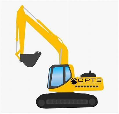 Digger Excavator Clipart Boom Side Vector Cartoon