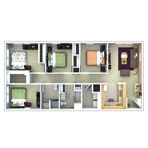 Bedroom Floor Plan by Apartments In Indianapolis Floor Plans