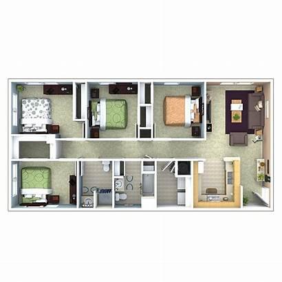 Apartments Bedroom Floor Plans North Plan 2ba