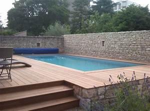 piscine bois rectangulaire semi enterree leroy merlin With piscine bois semi enterree leroy merlin