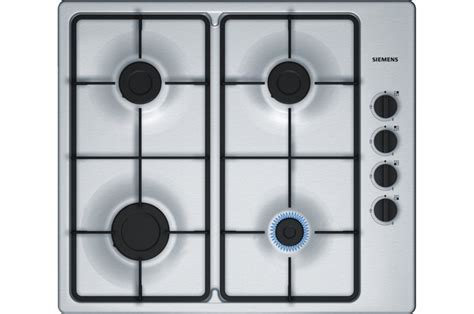 plaque cuisine gaz plaque gaz siemens eb6b5pb60 inox 4135547 darty