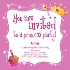princess magic  birthday invitation template