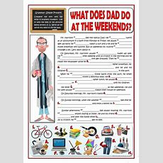 What Does Dad Do At The Weekends? Worksheet  Free Esl Printable Worksheets Made By Teachers