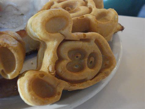 disney cuisine mickey waffles in mk orlando forum tripadvisor