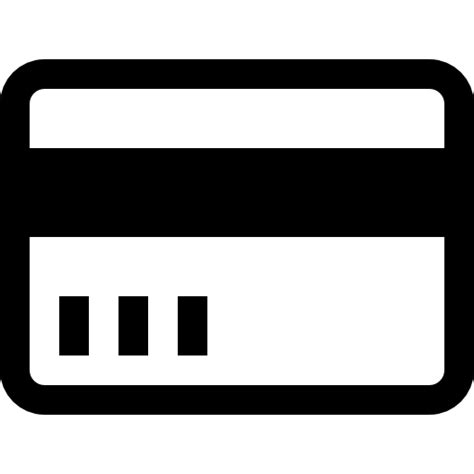 credit card outline icons