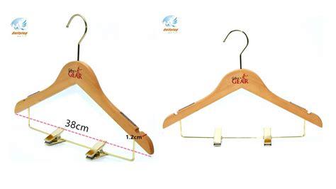good quality slim flat custom wooden coat hanger skirt