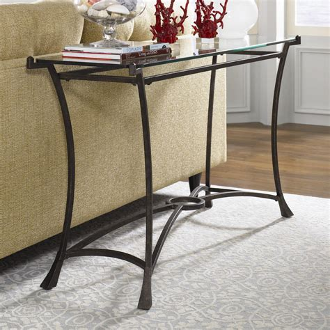 black iron and glass console table sofa table design glass sofa tables contemporary