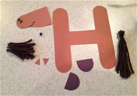 letter  horse craft template material preschool crafts