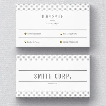 white business card  red details template