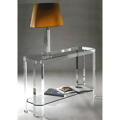 le valet de chambre console transparente athena un meuble design en plexiglas