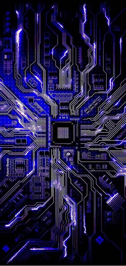 Circuit Board Purple Electronic