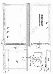Printable Plans for a Cedar Chest