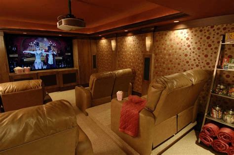 Basement Photo Friday  Basement Theater For Family Movie