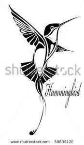 Stock Vector Tribal Hummingbird Silhouette Tattoo Save To A | Hummingbird tattoo, Silhouette