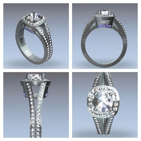 wedding ring cad designs cad engagement ring design samuel kleinberg