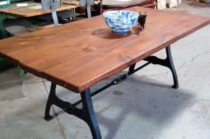 kitchen island farm table cast iron ri legs with turnbuckle lorimer workshop