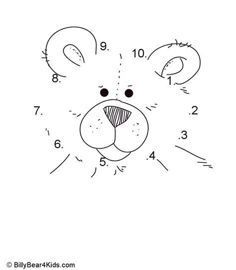 teddy bear dot to dot numbers 1 10 design pinterest