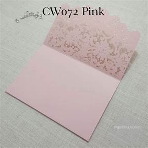 z cw072p pink pocket lasercut wedding invitation cover With wedding invitation envelopes nz