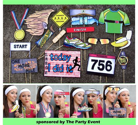 Runningrace Photo Booth Props  Perfect For Your Running