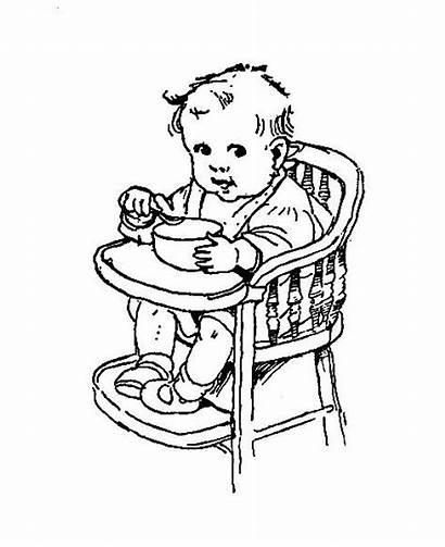 Digital Chair Eating Stamp Spoon