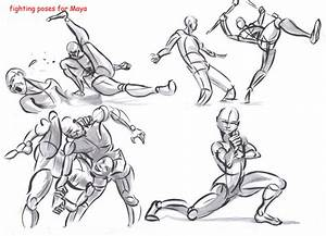 fighting poses for maya07 by AlexBaxtheDarkSide on DeviantArt