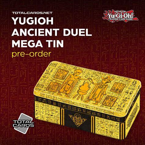 yugioh tin mega duel oh yu gi tins card totalcards decks booster cards order