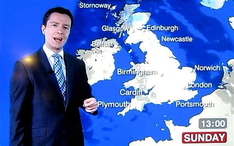 alex deakin bbc weatherman left red faced   air