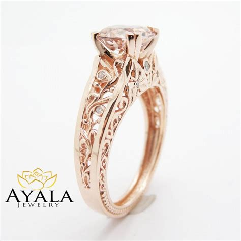 gold vintage engagement rings wedding promise