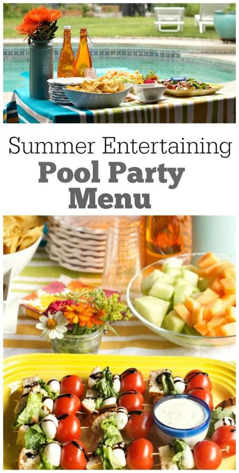 Pool Party Menu  Recipe Girl  Pools, Backyards And Girls