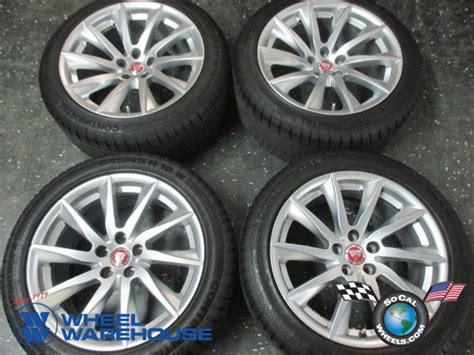Four 2015 Jaguar Xf Factory 18 Wheels Tires Oem Rims 59885