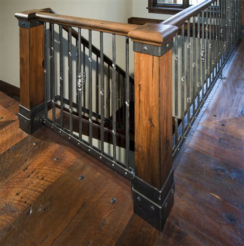 Rustic Living Room Wall Ideas by Staircase Rustic Staircase Minneapolis By Carl M
