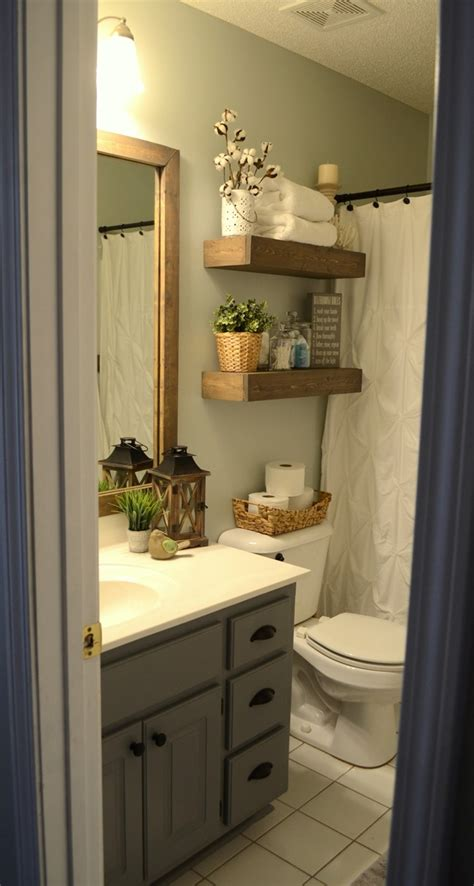 decorating ideas for the bathroom modern farmhouse inspired bathroom makeover one room one