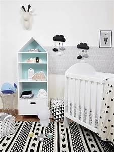 Chambre Enfant Blanc : d co chambre b b en noir et blanc blog deco clem atc ~ Teatrodelosmanantiales.com Idées de Décoration