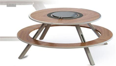 barbecuing picnic tables omega outdoor cooking table