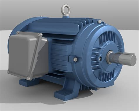 Electric Motor Model industrial electric motor ethereal 3d store