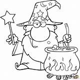 Wizard Coloring Magic Potion Wand Pages Printable Waving Tin Drawing Preparing Hat Colors Wands Wizards Supercoloring Drawings Holding sketch template