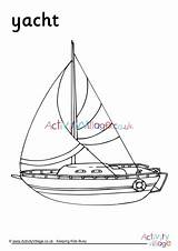 Colouring Yacht Become Member Word Log sketch template