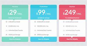 15  Best Free Html5 Css3 Pricing Tables Templates 2019