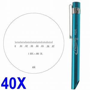 Pocket Scope Magnifier Scale 40X Magnification Mic