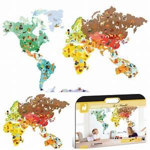 Carte Du Monde Sticker : janod la carte g ante magn tique expressions d 39 enfants ~ Dode.kayakingforconservation.com Idées de Décoration