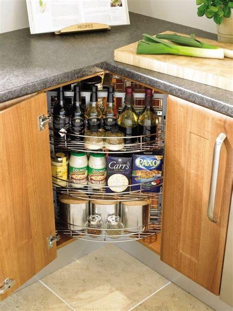 Kitchen Corner Cabinet Storage Ideas by 20 Practical Kitchen Corner Storage Ideas Shelterness