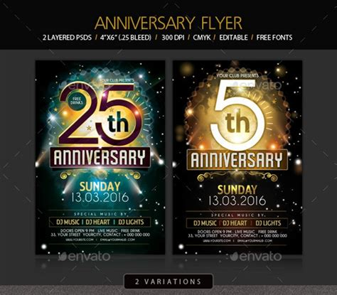 anniversary flyer psd designs design trends