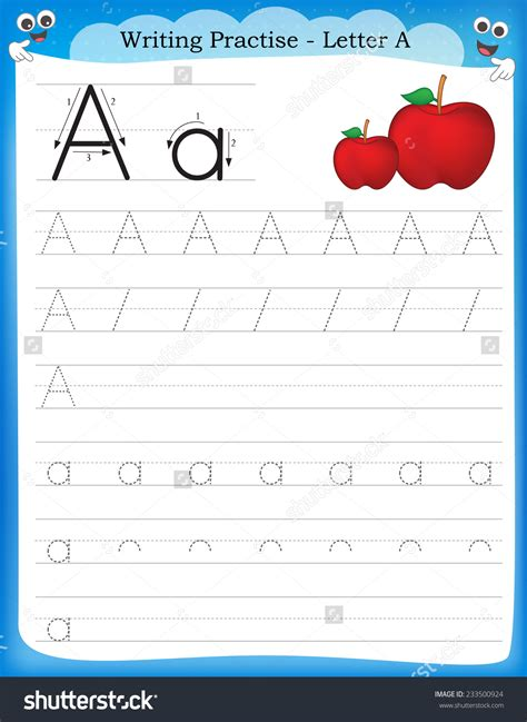 kindergarten worksheets letter writing practice