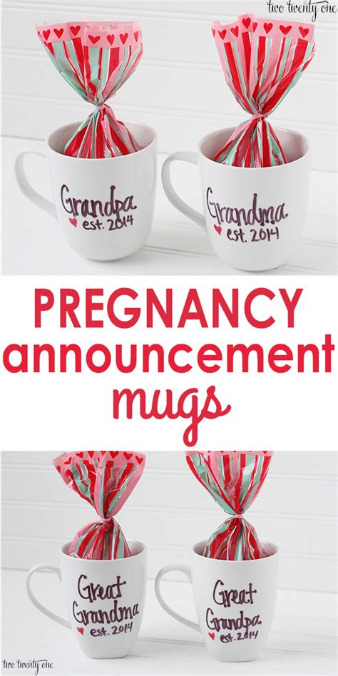 pregnancy announcement mugs video of reactions mom
